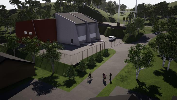 Illustrasjon av nye Hjelmeland transformatorstasjon.