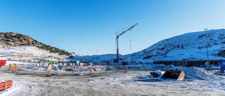 Utbyggingen av Fagrafjell transformatorstasjon pågår for fult ett år etter oppstart. Foto: Fredrik Ringe