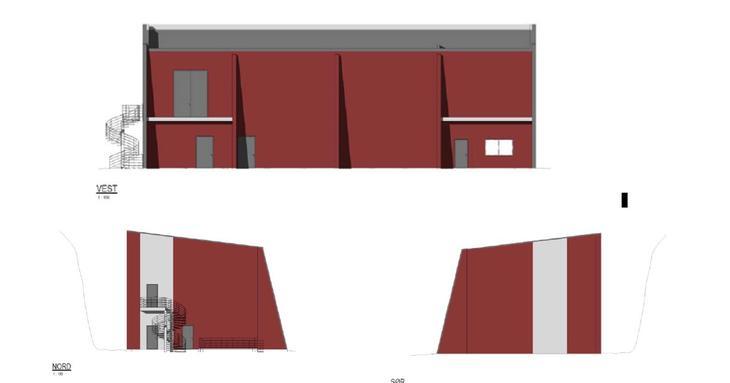 Illustrasjon av det nye bygget sett fra ulike retninger.
